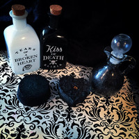 BITCHCRAFT black bath bomb, soap, and bath salt gift set