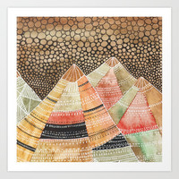 Pattern in the mountains Art Print by vivianagonzlez