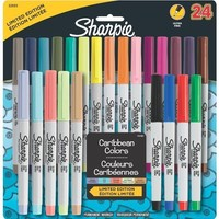 Sharpie Ultra-Fine-Point Permanent Markers, 24-Pack Colored Markers (32893)