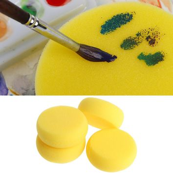 5PCS Round Painting Sponge For Art Drawing Craft Clay Pottery Sculpture Cleaning Tool  Hot  Sale