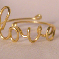 LOVE RING with adjustable band