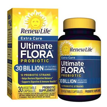 Renew Life Ultimate Flora Probiotic for Extra Care Vegetable Capsules - 30 billion CFU - 30ct
