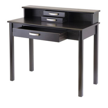 Liso 2 Piece Home Office Set, Writing Desk with Hutch