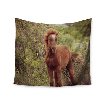 "Robin Dickinson ""Confuscous"" Brown Green Wall Tapestry"