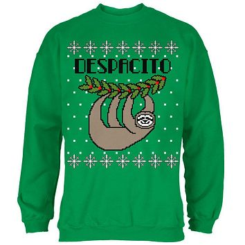 despacito means slowly sloth funny ugly christmas sweater mens s