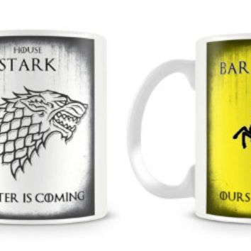 Targaryen Baratheon House Lannister House Stark game of thrones mugs cups tea cup ceramic coffee mug tea mugs home decal