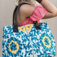 Ocean Floor Embroidered Tote Bag