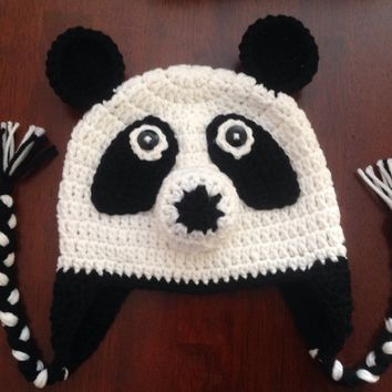 Baby Crochet Panda Bear Hat