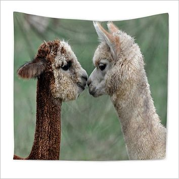 Home Decor Polyester Fabric Cute Alpaca Tapestry Wall Hanging Throw Bohemian Door Curtain home decoration accessories