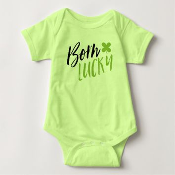 St. Patrick's Day Born Lucky Tee Shirt
