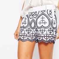 Christophe Sauvat Colombe Embroidered Short