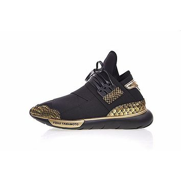 adidas y 3 qasa high black gold sneaker b88919