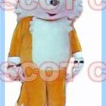 mascot yellow tails fox mascot costume hedgehog adult size hot sale anime cosplay costumes carnival fancy dress 2658