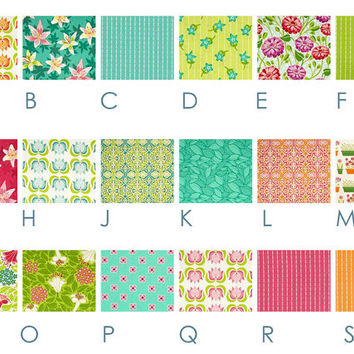 Lush Tropical FLOWERS   Custom Crib Bedding Set  by HappyMae