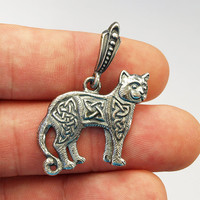Celtic cat, Cat necklace, Cat jewelry, Cat pendant, Celtic jewelry, Celtic necklace, Celtic knot, Viking jewelry, Viking pendant, Nordic