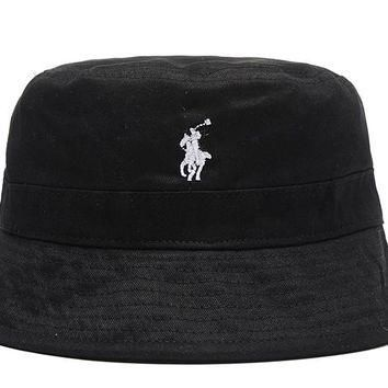 Polo Ralph Lauren Full Leather Bucket Hats Black