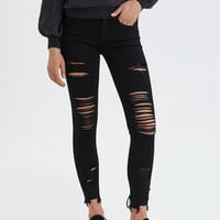 AE Denim X Jegging Crop, Black