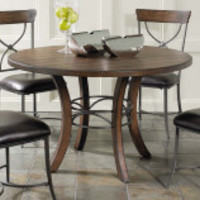 Hillsdale Cameron Round Wood with Metal Ring Counter Height Dining Table | www.hayneedle.com