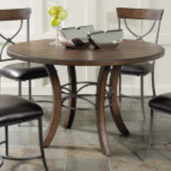 Hillsdale Cameron Round Wood with Metal Ring Counter Height Dining Table   www.hayneedle.com