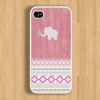 Pink Aztec Elephant Design Case : Iphone 4/4s case Iphone 5 case