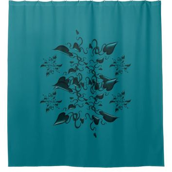 Hearts and ribbons shower curtain