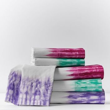 Tie Dye Cuff Sheet Set