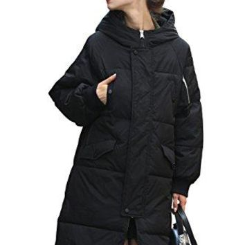 Women Water-Resistant Anorak Winter Long Quilted Coat