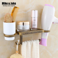 Antique bathroom paper phone holder with blower shelf bathroom Mobile phones towel rack toilet paper holder tissue boxes shelf