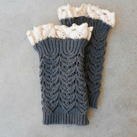 Lace + Knit Boot Cuffs