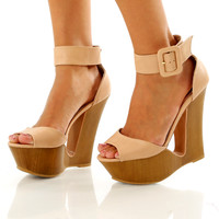 Catch The Wave Wedges: Nude