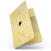 """Yellow Watercolor Cross Hatch - 13"""" MacBook Pro without Touch Bar Skin Kit"""