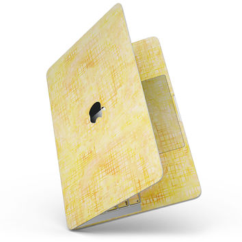 Yellow Watercolor Cross Hatch - MacBook Pro without Touch Bar Skin Kit