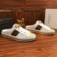 Versace Leather Slippers #2 - Best Online Sale
