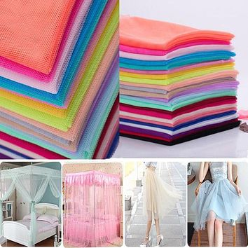 Tulle Net Fabric 160x2meter/lot Soft Gauze Encryption Mosquito Net Mesh Fabric Yarn Tulle Fabric DIY Wedding Dress Curtain Tulle
