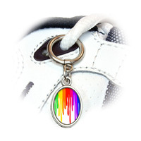 Paint Dripping Rainbow - Art Artist Painting Shoe Charm