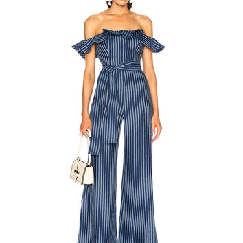 Alexis Edria Jumpsuit in Indigo Stripes | FWRD