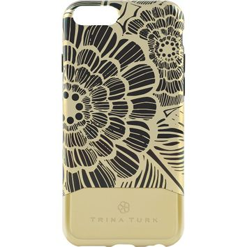 kate spade new york - Trina Turk Printed Chrome Case for Apple® iPhone® 6 - Black/Gold