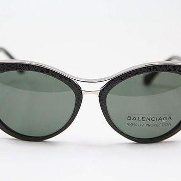 ONETOW balenciaga ba0033 01n black light ruthenium sunglasses 2
