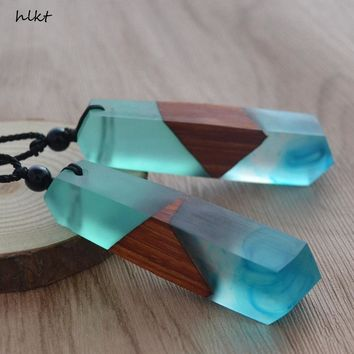 Hand Wood Resin Necklace