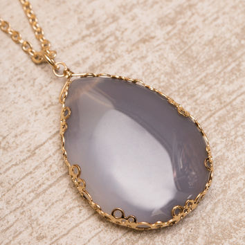 Gem Setter Necklace - Gray