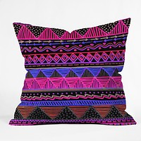 Lisa Argyropoulos Ocean T Neon Throw Pillow