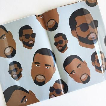 RAPPING PAPER, Kanye West Wrapping Paper (Yeezy, Yeezus, Funny Cards, Kanye Funny Card