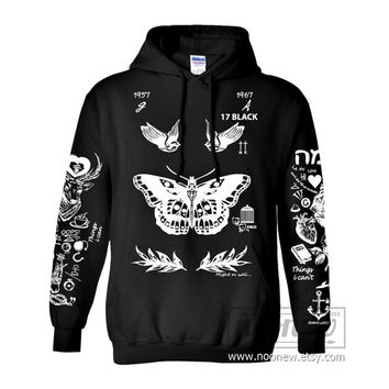 Larry Stylinson Tattoo Hoodies Sweatshirts Women Sweater Long Sleeve – Size S M L XL