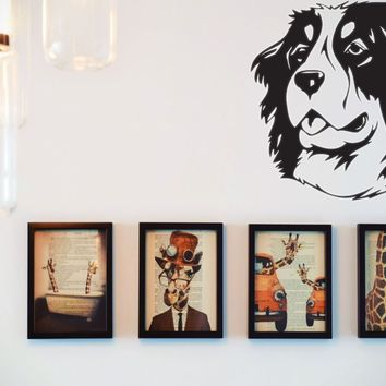 Bernese Mountain Dog Vinyl Wall Decal (Removable Sticker)