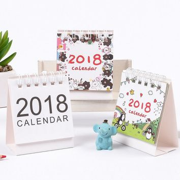 Mini Cartoon Animals Desktop Paper Calendar