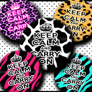 INSTANT DOWNLOAD Funky Keep Calm And Carry On (047) 4x6 Bottle Cap Images Digital Collage Sheet for bottlecaps hair bows bottlecap images