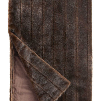 Sable Signature Series Faux Fur Throw Blanket by Fabulous Furs