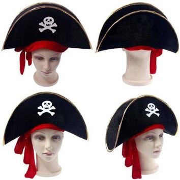 Halloween Accessories Skull Hat Caribbean Pirate Hat Piracy Hats Corsair Cap Party Props 11
