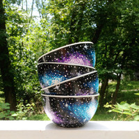 Hand painted galaxy soup/cereal bowls set of by ArianaVictoriaRose