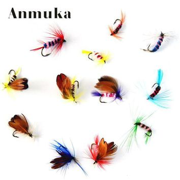 ONETOW Anmuka 12pcs/set Various Dry Fly Fishing Trout Salmon Dry Flies Fish Hook Lures fishing fishing pesca